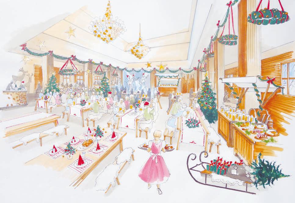 Weihnachtsfeier im Ballsaal