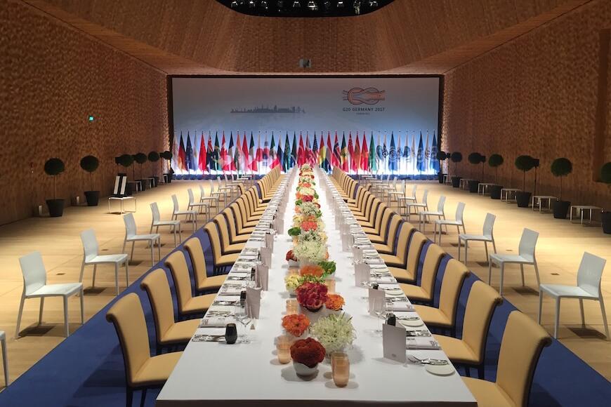 G20-Catering-Tafel
